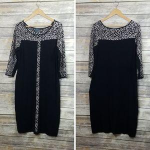 Gabby Skye Animal Print Knit Sweater Dress Stretch